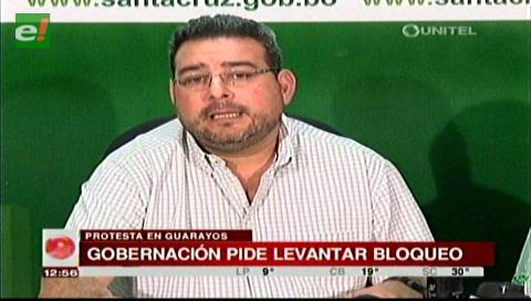 Gobernación cruceña lamenta la falta de voluntad de diálogo de las autoridades de Guarayos