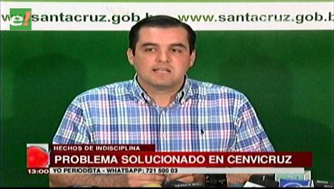 Gobernación cruceña frenó actos de indisciplina de internos en Cenvicruz