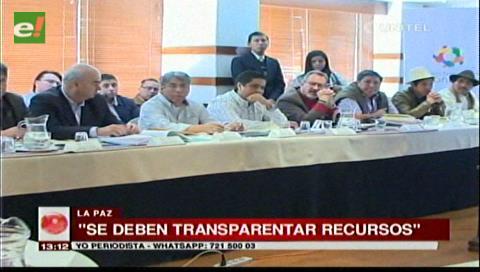 Pacto fiscal: Delegados de La Paz y Santa Cruz piden transparentar recursos