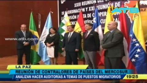 Contralores de países del Mercosur se reúnen en Bolivia