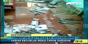Tormentas eléctricas causan desastres en Guayaramerín