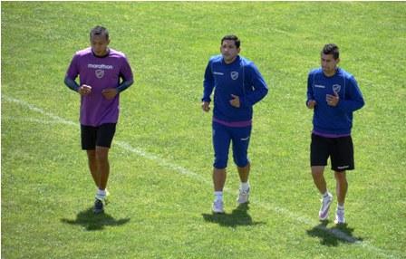 Martes 15 de diciembre de 2015. Práctica del equipo de Bolívar frente a su próximo compromiso con su similar orureño San José.