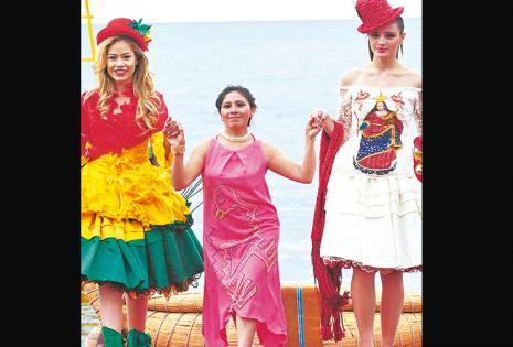 /Pinky Arias. con 14 trajes impresio-nantes del Carnaval De Oruro