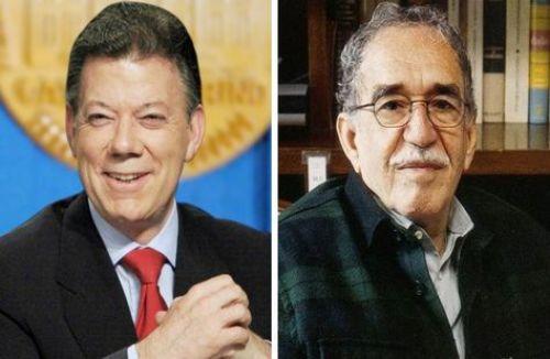 Juan Manuel Santos (izq.) y Gabriel García Márquez, los colombianos galardonados. Fotocomposición: La Razón Digital