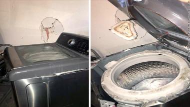 Una lavadora de una mujer de McAllen, Texas,