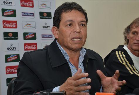 Rolando López, presidente de la FBF.
