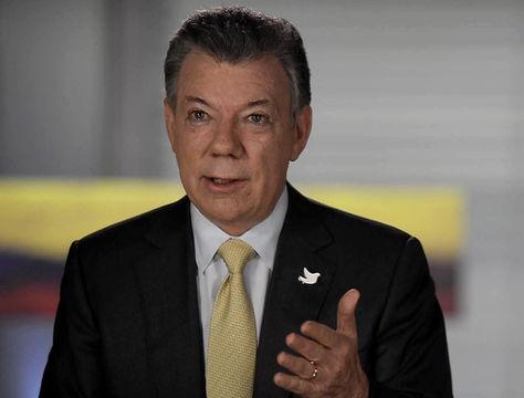 El presidente colombiano, Juan Manuel Santos, durante su alocución. Foto: EFE