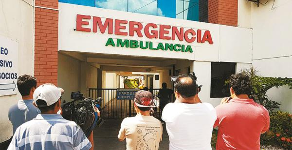 La inspección a la clínica fue a las 8:00. El jurista Jaime Soliz dijo que el centro colaborará con la pesquisa