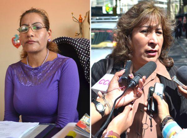 LA PRESIDENTA DEL TRIBUNAL DÉCIMO DE SENTENCIA, PATRICIA PACAJES, (IZQ) Y LA FISCAL SUSANA BOYAN. LA DEFENSA DENUNCIA QUE PRETENDEN LLEVAR A CERO EL JUICIO POR FALTA DE PRUEBAS.