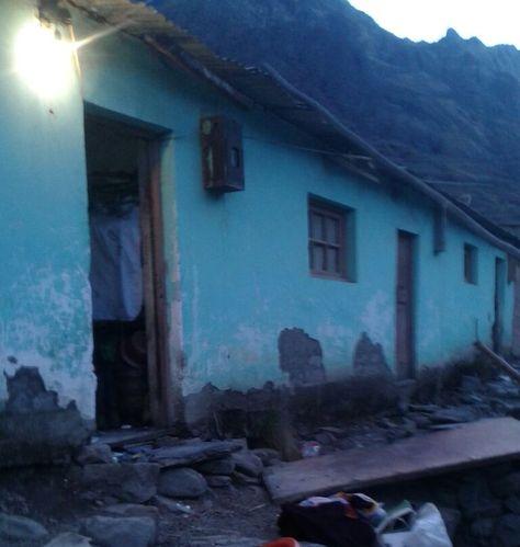 La casa de Ernesto Arapaya que intervino la Policía en un operativo en la madrugada del este jueves en Viloco.