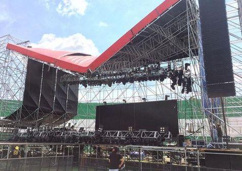 El escenario donde se iba a presentar Aerosmith. Foto: Instagram Zack Whitford