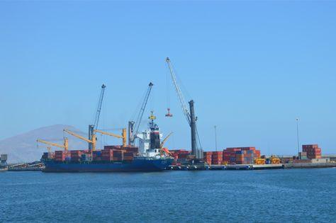 El puerto de Antofagasta que utilizan los exportadores nacionales de minerales.
