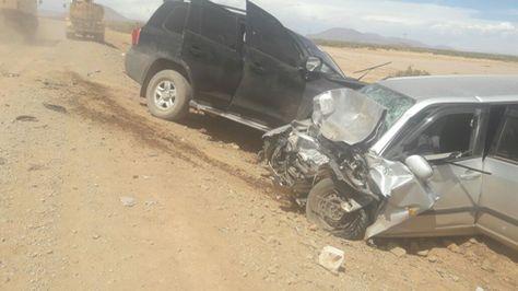 Los vehículos que impactaron en Oruro