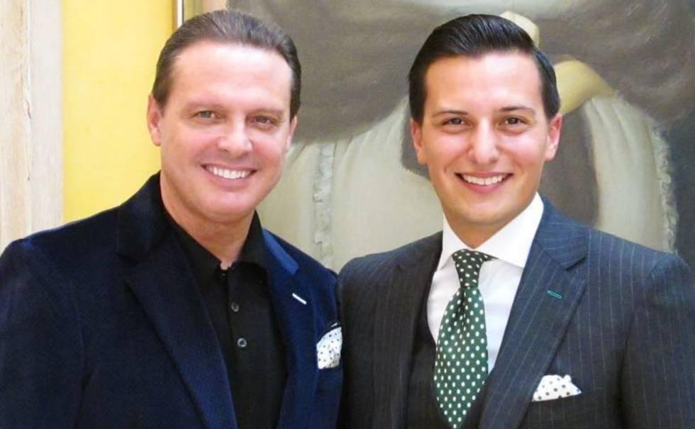 Luis Miguel junto a Nicolas Bijan, dueño de la marca que lleva su apellido.