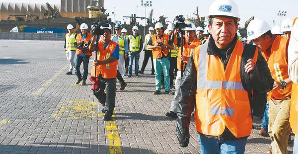 El canciller David Choquehuanca lideró una comisión que en julio visitó los puertos chilenos