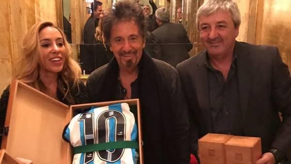 Al Pacino con la 10 de Racing.