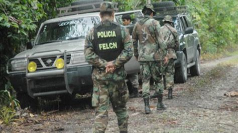 Efectivos de la Fuerza Especial de Lucha Contra el Narcotráfico durante un operativo en 2015. Foto: Archivo