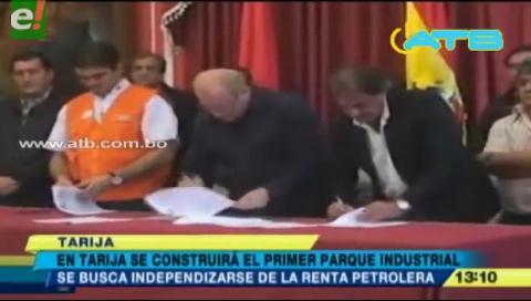 Tarija anuncia la construcción de un Parque Industrial
