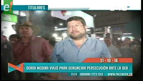 Titulares de TV: Doria Medina viajó a EEUU para denunciar persecución política ante la OEA