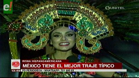 México se lleva el premio al Mejor Traje Típico del Reina Hispanoamericana