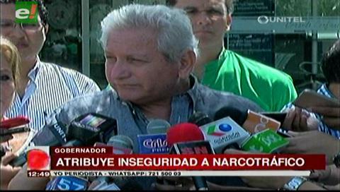 Gobernador Costas atribuye la inseguridad al narcotráfico