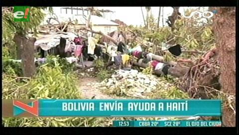 Titulares de TV: Bolivia envía ayuda a los damnificados del Huracán Matthew en Haití