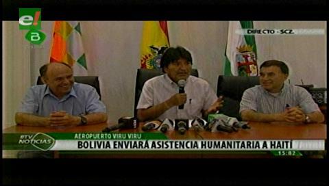 Bolivia envía leche y arroz para familias damnificadas en Haití