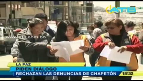 Gobierno pide a Chapetón dialogar con los movilizados