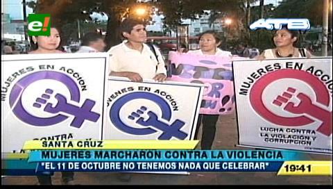 Mujeres marcharon contra la violencia y corrupción en Santa Cruz