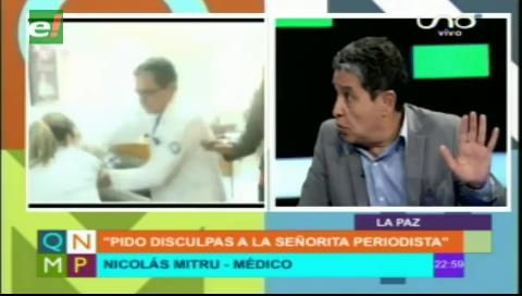 Dr. Mitru pide disculpa a periodista por agresión
