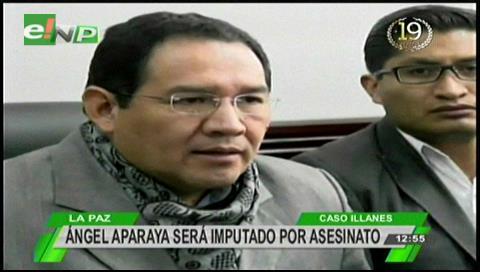 Fiscalía imputa a Ángel Aparaya por el asesinato de Illanes