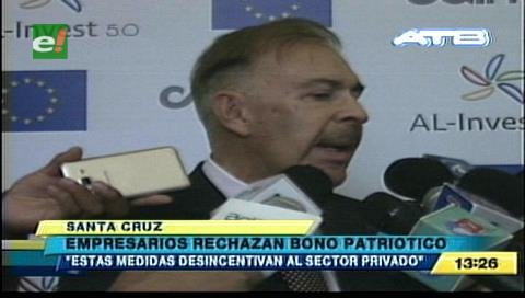 Cainco rechaza el bono patriótico