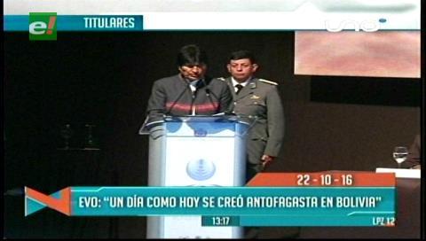 Titulares de TV: Evo recordó que un día como hoy se creó Antofagasta en Bolivia