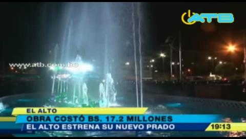 El Alto estrenó su paseo peatonal Prado