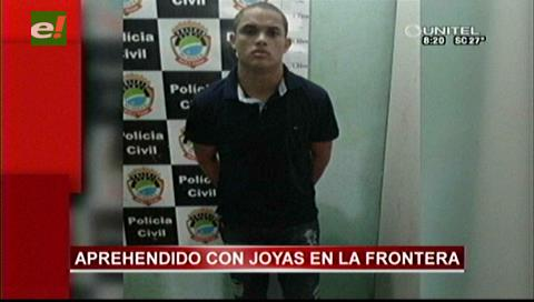 En la frontera con Brasil: Cae atracador brasileño con joyas en su poder