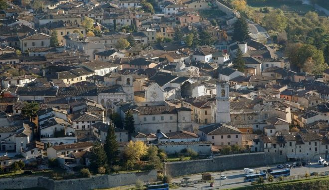 A general view of Norcia following an earthquake in central Italy, October 31, 2016. REUTERS/Remo Casilli