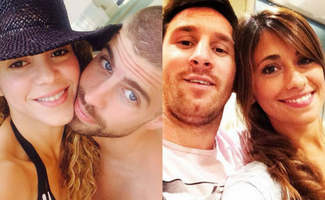 Shakira, Pique, Messi, Antonella Roccuzzo