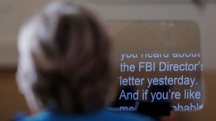 Hillary Clinton habla sobre la investigación del FBI, el 29 de octubre de 2016.
