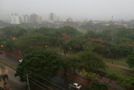Llueve en Santa Cruz