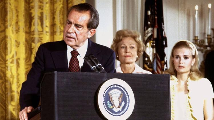 Richard Nixon, Pat Nixon y su hija Tricia
