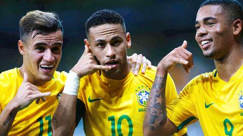 Neymar celebración brasileña