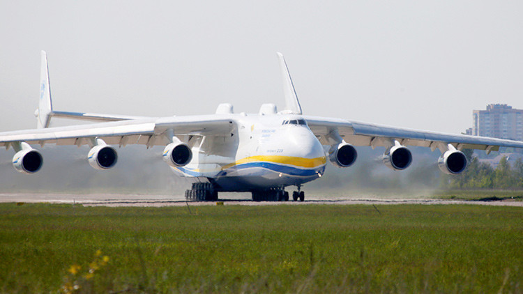 Un avión Antonov An-225 Mriya