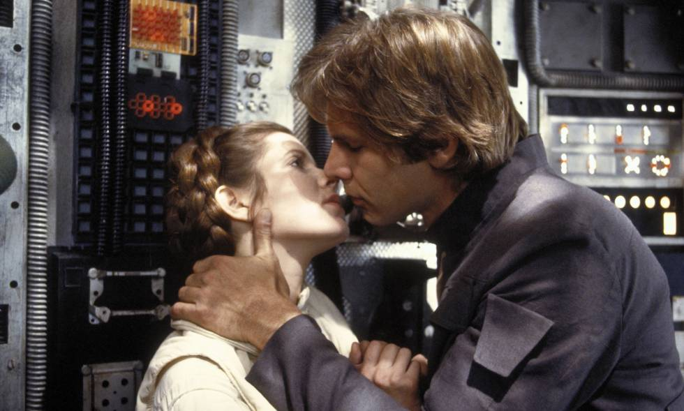 Carrie Fisher y Harrison Ford en