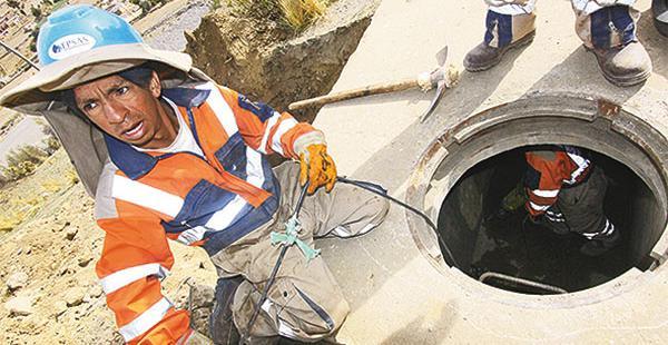 Los trabajos se multiplican para dotar de agua a La Paz