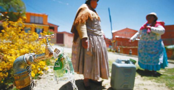 En la zona rural de Potosí hay problemas por el desabastecimiento de agua potable. Hay reclamos