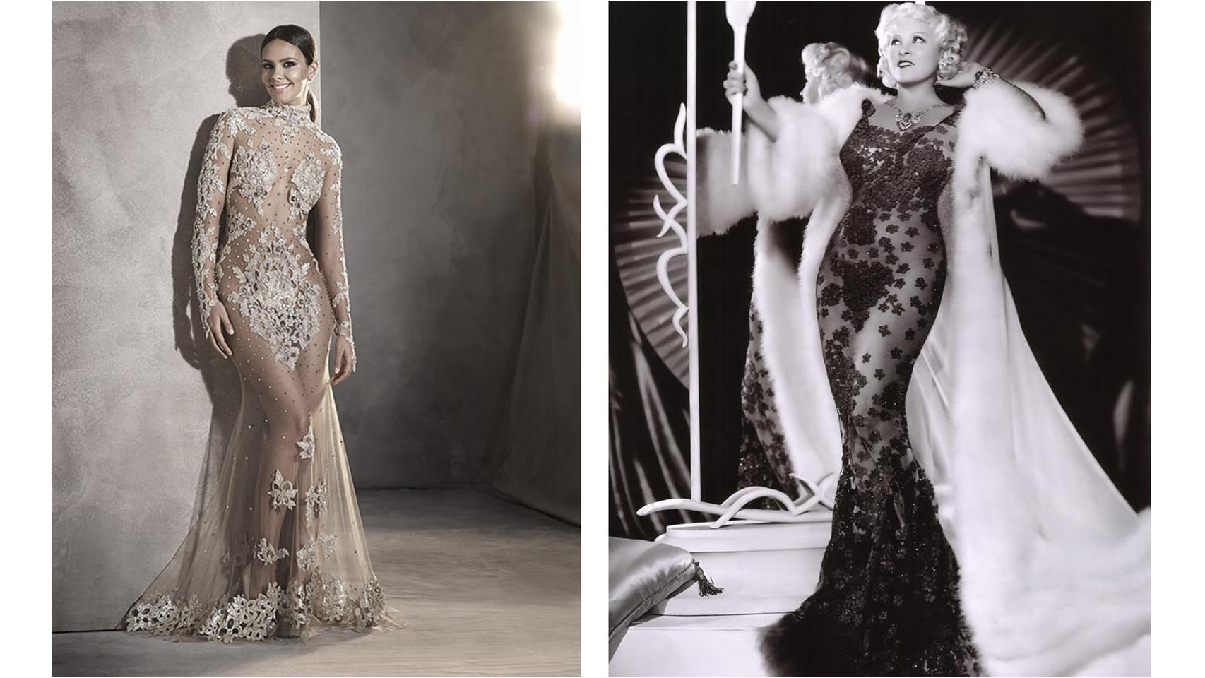 Cristina Pedroche dio las campanadas del paso de 2015 a 2016 con un vestido de Pronovias muy similar al de la actriz Mae West.