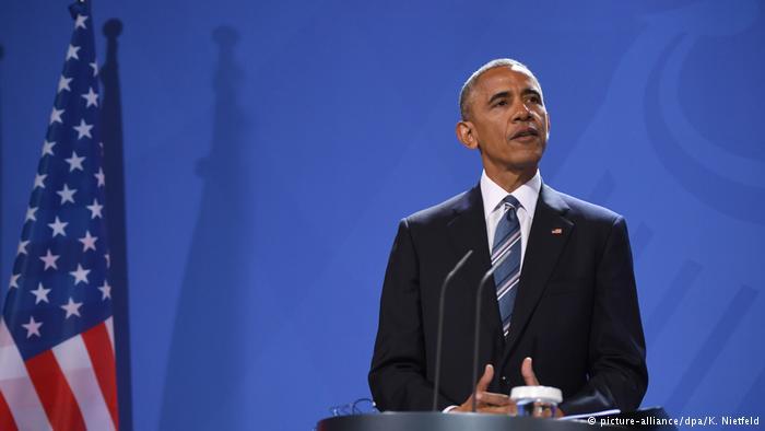 Deutschland Pressekonferenz vom US-Präsident Obama in Berlin (picture-alliance/dpa/K. Nietfeld)