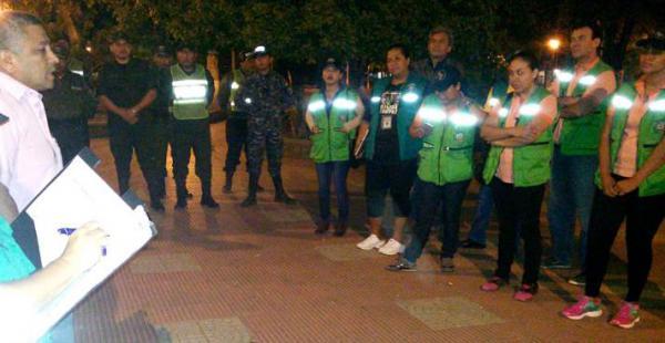 Personal de La Guardia junto a policías salieron la noche del sábado a requisar los boliches