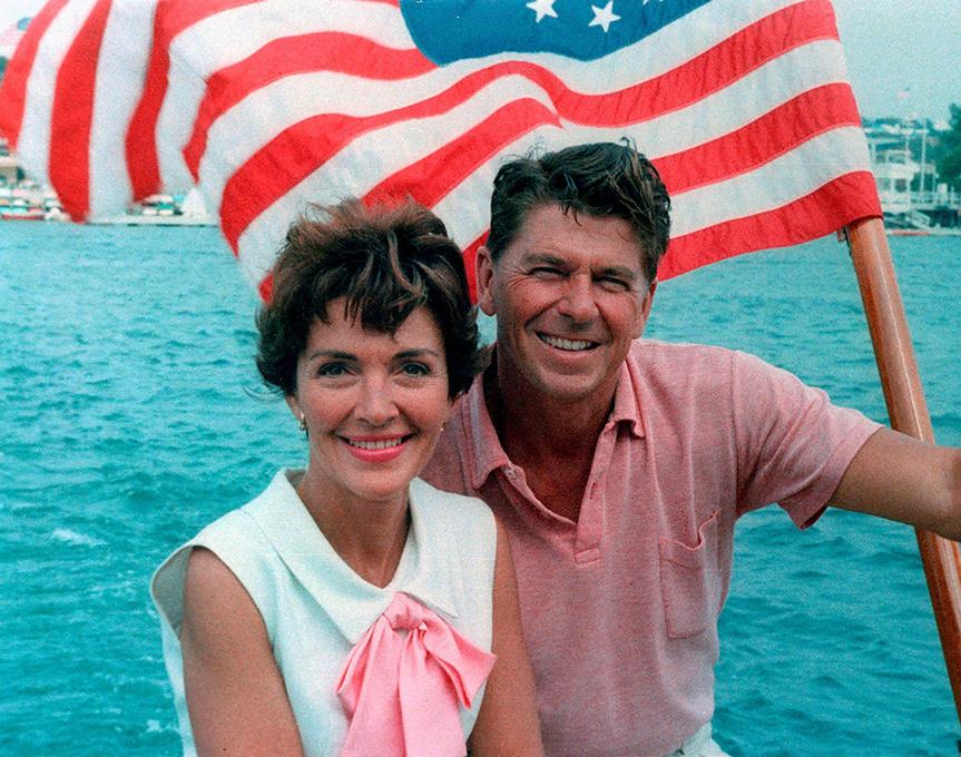 Los Reagan, en 1964.
