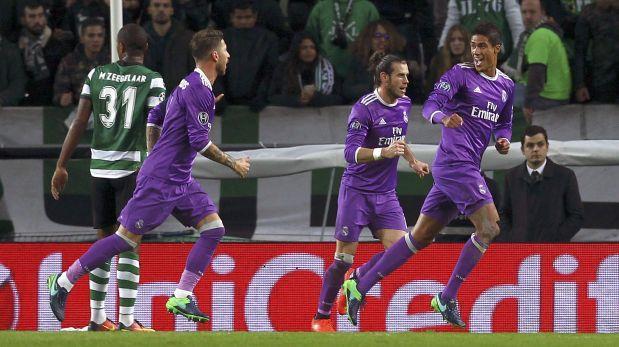 Real Madrid venció 2-1 Sporting Lisboa por la Champions League
